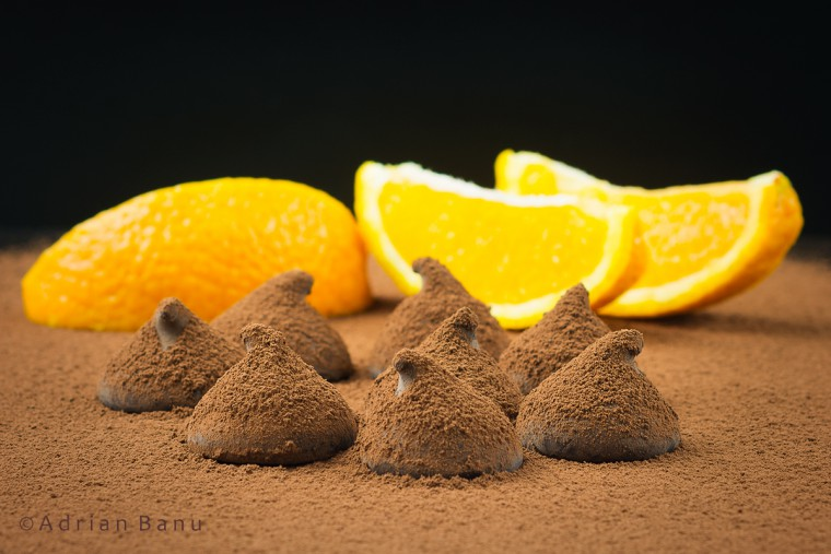 Trufe de ciocolata cu portocale