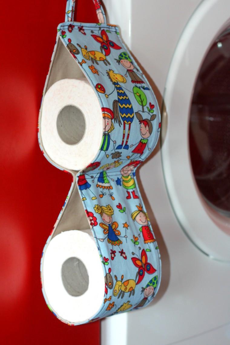 Suport diy de baie pentru rolele hartie igienica